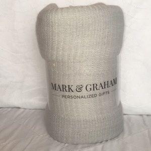 Mark & Graham Bedding - NWT Mark & Graham Gray/Ivory Throw